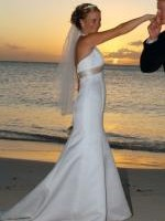 Gorgeous Ivory Halter Neck Wedding Gown by Davids Bridal in Miami U.S.A