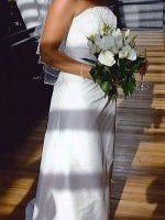 Classic Ivory Pure Silk Wedding Gown By Airs and Graces