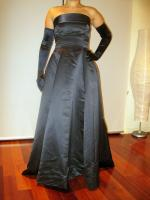 Classic and Elegant Strapless Bridesmaid Dress, handmade.