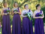 Four  Beautiful Bridesmaid Dresses and Jackets