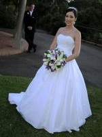 Gorgeous strapless 'Lalita' Wedding Gown By Barbra Calabro