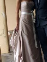 Mariana Hardwick Strapless Wedding Gown in Latte