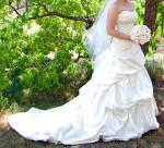 Strapless, Full Draped Skirt, Style 'D963' Essense of Australia Wedding Dress - worn once