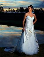 Unique Satin and Organza Essense of Australia Wedding Gown (D1099)