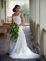 Beautiful 'Grecia' One Shoulder Wedding Gown by Pronovias