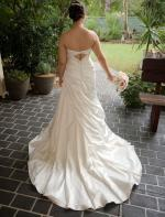 Beautiful 'D1049' Strapless Satin Wedding Dress by Essense of Australia