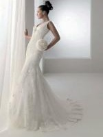 Aire Barcelona 'Birmania' Stunning Lace Wedding Gown