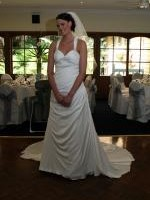 Gorgeous Essense White Wedding Dress With Criss Cross Backing