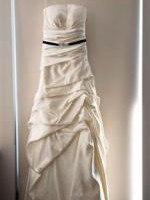 Strapless Wedding Dress with Adjustable Tie Up Back. One Off Design.