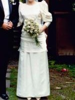 Vintage Duchess Satin Cream Wedding Dress by Mariana Hardwick