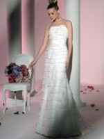 Stunning & Timeless A-Line Dress with Fishtail by Renowned Designer Peter Trends