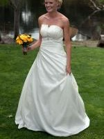 Beautiful Strapless Wedding Dress from Brides of Manuka