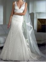 Beautiful Ivory Lace 'Higuera' Wedding Dress by Pronovias