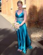 Gorgeous Bridesmaid Dress with Beaded Top and Pleated Skirt