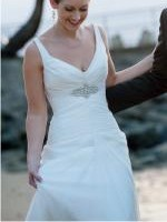 Beautiful 'Amelia' Gown with Detailed Beaded Belt by Karen Willis Holme