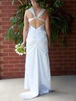Beautiful White Satin Wedding Dress; Cal�che by Colette Foubert