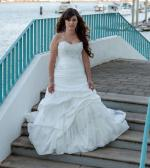 Stunning Strapless Off White Wedding Dress