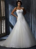 Ivory Maggie Sottero �Nora� Wedding Dress A3443 Size US 12 / AUS 14