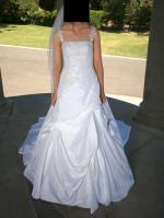 Barbra Calabro Wedding Dress With Long Train + Genuine Accessories