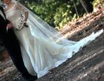 Ivory Lace Wedding Dress Fitted  Mermaid Style