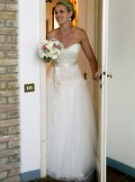 Mariana Hardwick Stunning 'Chanson D'Amore' Ivory Strapless Wedding Dress