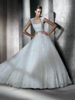 Beautiful Ivory Lace Gown with low back and sweetheart neck