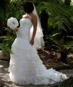 Beautiful Strapless Aire Barcelona inspired Wedding Gown