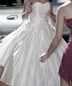 Pure Silk Ivory Sweetheart Ball Gown by Designer Jean Fox
