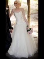 Elizabeth de Varga Couture Ivory Silk and Tulle Gown