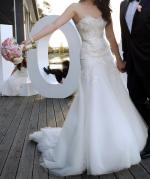 Steven Khalil Strapless 'Rose' Wedding Dress, Size 10