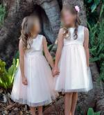 Two gorgeous pale pink flowergirl dresses