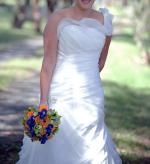 Beautiful One Shoulder Stella York Wedding Dress!