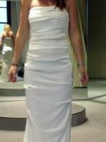 Lisa Ho Natural Coloured Strapless Dress - Never worn