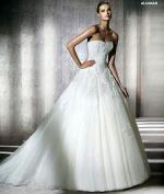 Stunning Lace Sweetheart Cut Pronovias Alcanar Gown