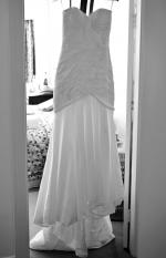 Gorgeous Karen Willis Holmes strapless Renee wedding dress in ivory
