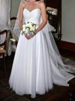 Beautiful strapless Karen Willis Holmes Gown 'Madelyn' with diamant� belt