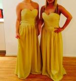 New with tags Gold strapless sweetheart bridesmaid dresses x 6