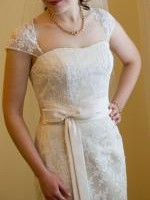 Elegant Lace Wedding dress by Peter Trends