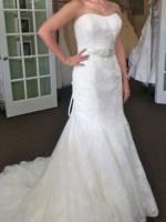Beautiful Strapless wedding dress by Maggie Sottero