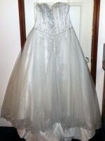 New Never Worn Beautiful Strapless Beaded Wedding Dress- Jean Fox