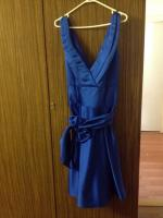 Blue knee length formal dress