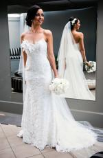 Stunning Pure Lace Gown Custom Made