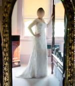 Vintage style Beaded Lace and Silk Wedding Gown by Melanie Ford