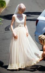 Anaessia vintage lace wedding gown