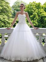 Beautiful Strapless Wedding dress with amazing detail by David Tutera
