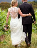 Pronovias dress with stunning back feature
