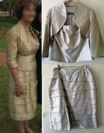 Designer Mother of the Bride Montique Gold 3 piece outfit