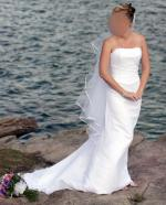 Beautiful strapless 2 piece Swarovski crystal wedding dress & Veil