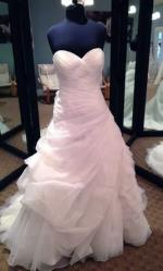 Romantic organza wedding gown by Allure Bridals