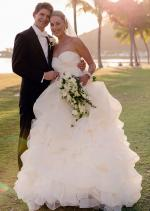 Gorgeous 'One of A Kind' Strapless Wedding Gown by acclaimed Designer Bora Couture